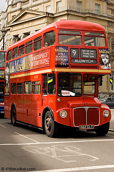 Old Routemaster Bus Central London Bus