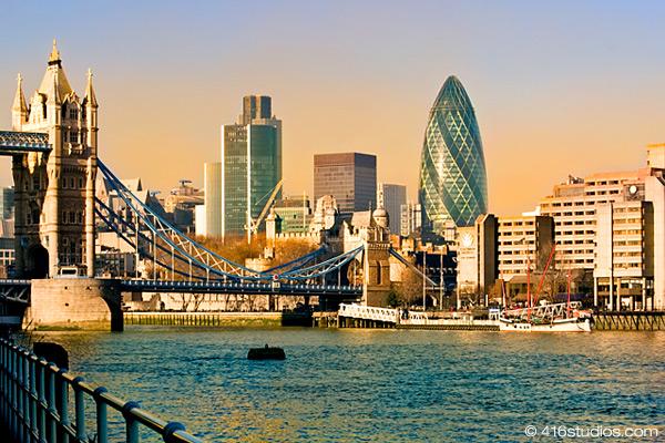 Tower Bridge London Gherkin