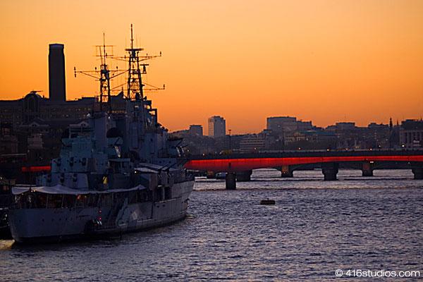 HMS Belfast Thames River