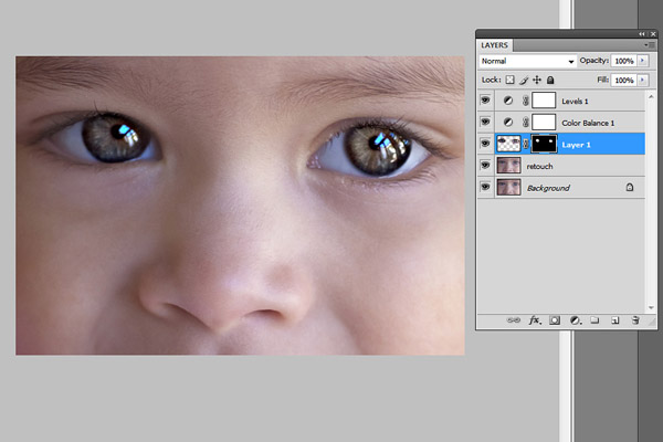 eye sharpening Photoshop tutorial