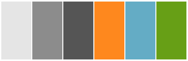 grey orange green blue colour theme