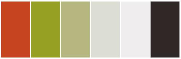 green deep orange grey theme