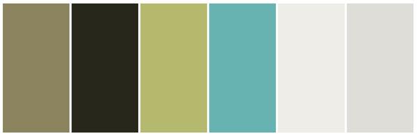 aquamarine olive colour theme