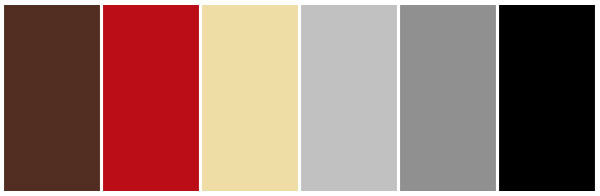retro cream red brown color palette