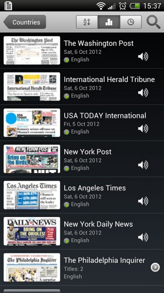 PressReader App screen shots