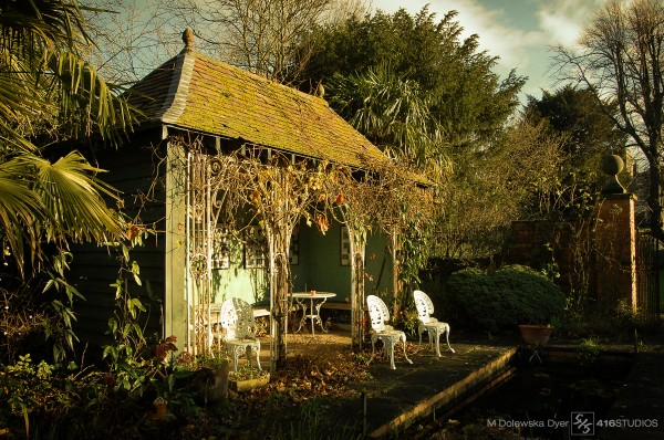 Wantage Oxfordshire Oxford England garden oriental garden Indian garden photo manipulation