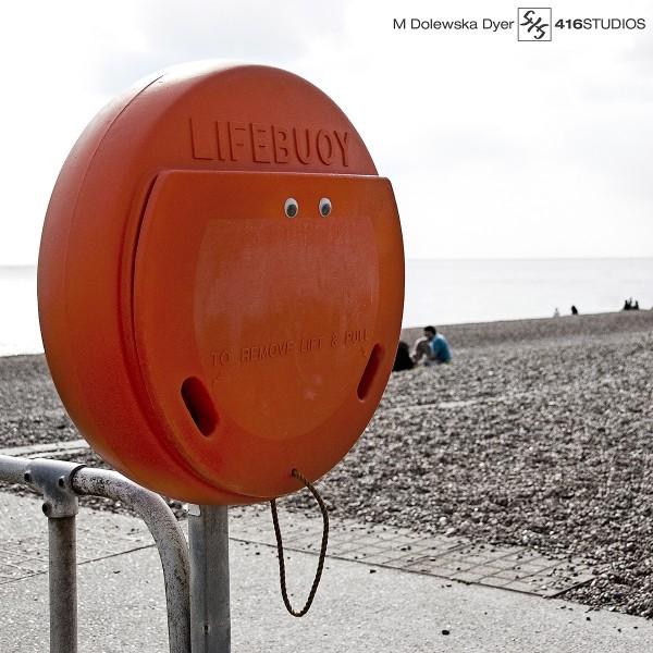 orange lifebuoy life ring seaside Brighton photography photographer