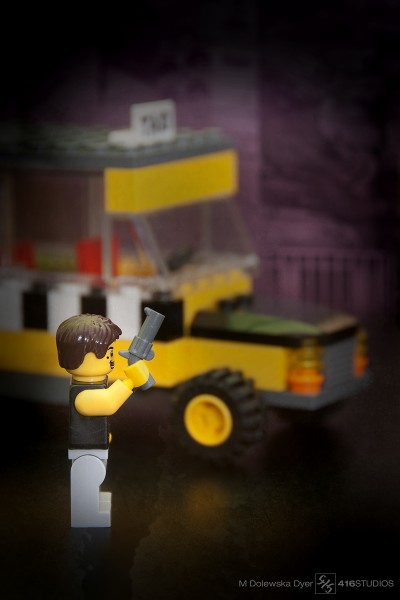 Lego Taxi Driver Movie Robert De Niro yellow cab NY