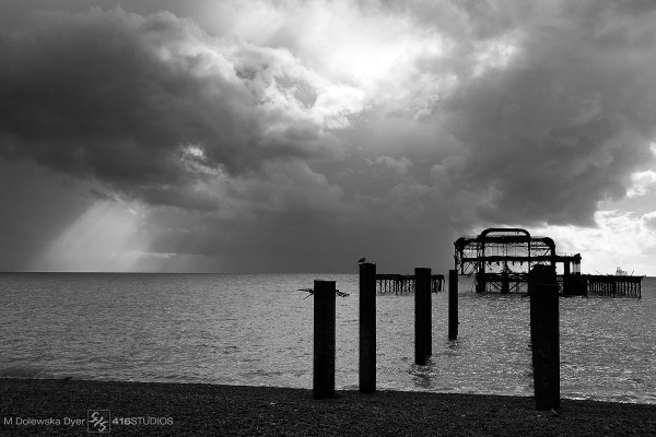 WWPW2014 West Pier Brighton old pier B&W
