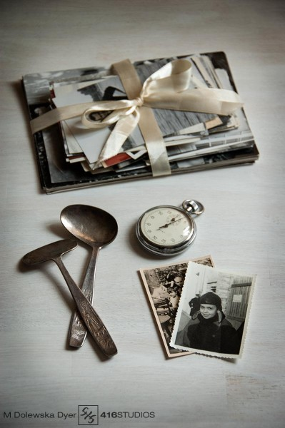nostalgic photo of my father's belongings and old photographs