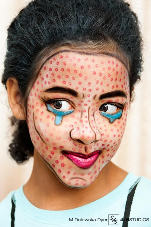 pop culture photography comic book character pop art make-up