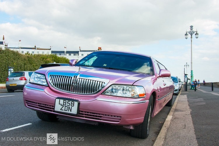 pink limousine pink limo Brighton