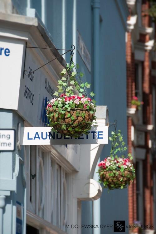 launderette laundry flowers Brighton